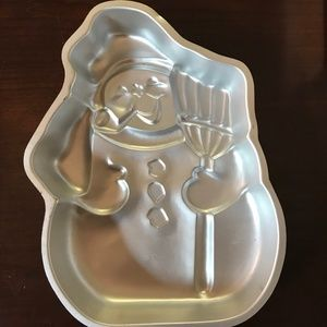 Wilton Snowman with Broom Cake Pan #502-1646 VGC